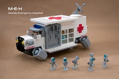 M-E-H (ted @ndes) Tags: meh emt emergency vehicle hover truck ambulance lego bw18 brickworld