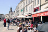 Lunch time - La Rochelle (France) (Yuri Dedulin) Tags: culture eu europe france larochelle oldcity travel yuridedulin vieuxport dining lunch brunch food fun holiday vacation enjoy harbor safés 2018 weekend bell tower belltower friends talk walk brasseria outdoor french bistro outwardfacing leisure peoplewatching