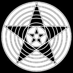 Pentagram mystical (Astronira) Tags: pentagram pentacle star fivepointed pentagonal stellar mystical magic pattern symmetric symmetrical symmetry geometric geometrical wye abstract abstraction astronira graphic design digital decorative image drawing illustration openwork sorcery wizardry enchantment occultism ritual rite
