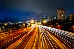 All roads lead to Sydney || North Sydney (David Marriott - Sydney) Tags: northsydney newsouthwales australia au 15mm fisheye night nsw warringah freeway long exposure north sydney