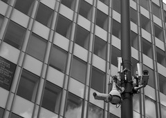 You are being watched (dlsmith) Tags: byn watching personofinterest orwellian orwell monochromatic monochrome bw blackandwhite observation city camera bigbrother spy surveillance manchester cctv