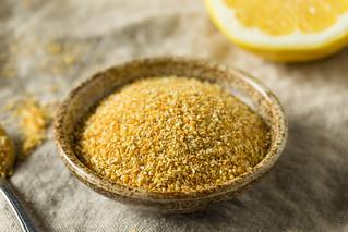 Raw Dry Organic Lemon Rind Zest