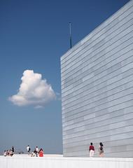 """Get off my Cloud (Say """"Wasabi"""") Tags: norway oslo architecture cloud clouds buildings sky blue olympus m43 mzuiko1240 omdem1ii"""
