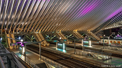 Liège, Belgium: Liège-Guillemins railway station (nabobswims) Tags: belgianrailways belgium hdr highdynamicrange lightroom liège liègeguillemins nabob nabobswims photomatix sel1018 sncb santiagocalatrava sonya6000 station wallonie be