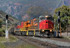 Crossing Over 2 to 1 (jamesbelmont) Tags: train emd morrisonknudsen mk503 utahrailway spanishforkcanyon utah rio drgw coal intermountainpower savage railroad railway geneseewyoming