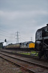 Meeting In The Middle (Jordon Skinner) Tags: british railways standard class 9f 2100 92214 leicester city switherland sidings five 460 73156 great central railway