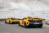 458 Speciale & 675LT (Nico K. Photography) Tags: ferrari 458 speciale combo mclaren 675lt rare yellow supercars snow nicokphotography switzerland grimselpass