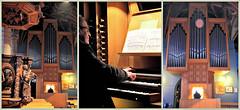 L'organiste de l'église Saint-Pierre, Bastogne, Belgium (claude lina) Tags: belgique belgium belgië bastogne ardennes luxembourg provinceduluxembourg claudelina orgue