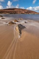 High tide - Achininver Bay, Sutherland (linda.m.davison@btinternet.com) Tags: rocks sand scotland sutherland ocean sea hightide tide beach achininver