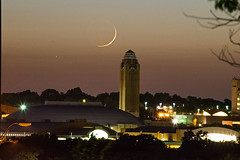 Will Rogers Moonset (Cowboy Dan Paasch) Tags: fort worth will roger memorial coliseum luna moon