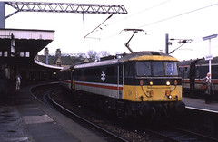 21.11.87  Carnforth 86101 (philstephenrichards) Tags: britishrail br carnforth hertfordshirerailtours bordercitypullman class86 class861 86101