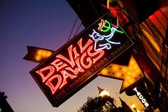 Devil Dawg's (Thomas Hawk) Tags: america chicago cookcounty devildawgs illinois usa unitedstates unitedstatesofamerica devil neon pitchfork restaurant us fav10 fav25 fav50