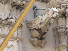 Street Level Gargoyle Old NY Times Building NYC 3986 (Brechtbug) Tags: gargoyle former new york times building square 2018 city tower architecture midtown manhattan 06182018 newspaper gothic news paper towers urban now yahoo headquarters internet business search engine computer company june spring summer art buildings old street level ny nyc