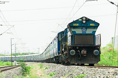 KJM Blue Bleed DG4 12025 with 12747 (cyberdoctorind) Tags: ifttt 500px indian railways locomotives stations yards running ops