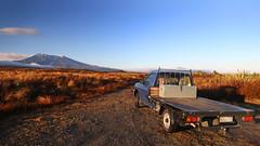 the photographers friend (Doug Days XXII) (Paul J's) Tags: vehicle ute nissan navara doug dougdays landscape tongarironationalpark mountain volcano manawatuwanganui mtruapehu