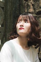 Hà My (Hồ Văn Tìm) Tags: girl beautiful sweet light hightlight happy sad cool building garden sunshine white dress black vietnam