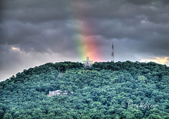 Roanoke Star Pot Of Gold (Terry Aldhizer) Tags: roanoke star pot gold sunset rainbow mill mountain blue ridge rain shower sky clouds weather terry aldhizer wwwterryaldhizercom