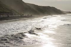 Splat goes the surfer (Keartona) Tags: surfers surfer sea saltburn sunlight sunny waves wave northyorkshire coast evening cliff beach seaside man figure surf