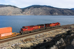 CP 9702 ~ Savona (Chris City) Tags: train railway railroad mainline lake container cpr kamloops savona easter