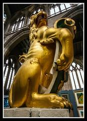 Golden Lion (veggiesosage) Tags: church stmaryschurch nottingham aficionados gx20