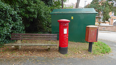 Edward VII cypher B ttpe post pillar box Spur Hill Avenue Poole 07.09.2017 (1) (The Cwmbran Creature.) Tags: g p o gpo general post office street furniture red heritage letter great britain gb