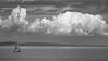 Bristol Channel Cumulus (tramsteer) Tags: tramsteer yacht bristolchannel cloud cumulus boat tidal cirrus bridge motorway m4