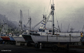 Boats at Port Orford (HSS)