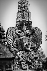Garuda shrine at the Pura Taman Ayun, Bali, Indonesia.