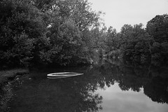 Abandoned (Theolde) Tags: leicamp film ferraniap30 lake forest boat