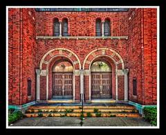 St. Patrick's - Detroit (Will-Jensen-2020) Tags: chapel stpatrick roman catholic arch entrance entry door stone brick stpatricks historic romanesque architecture building church parsonsstreet detroit michigan usa detroitphotographer