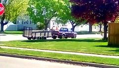 Pickup truck and trailer - HTT 365/213 (Maenette1) Tags: pickuptruck trailer neighborhood spring menominee uppermichigan happytruckthursday flicker365 allthingsmichigan absolutemichigan project365 projectmichigan