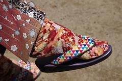 Japanese Footwear (runslikethewind83) Tags: feet foot tabi kimono japanese asian japan pattern design pentax