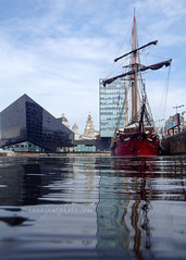 Atyla, Canning Dock (.annajane) Tags: boat canningdock ship liverpool dock water tallship uk england merseyside reflection atyla liverbuilding mannisland pierhead schooner