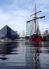 Atyla, Canning Dock (.annajane) Tags: boat canningdock ship liverpool dock water tallship uk england merseyside reflection atyla liverbuilding mannisland pierhead schooner