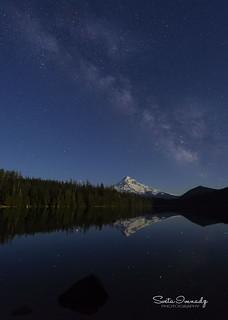 Milky Way over Mt Hood (Mt Hood NF, OR).