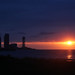 Zonsondergang bij de Zwarte Zee bij Batumi