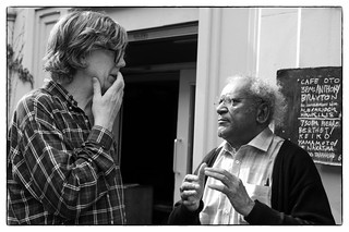 Anthony Braxton & Thurston Moore outside Cafe Oto, London, 31st May 2018