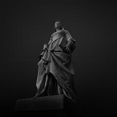 J U S T I C E (FredConcha) Tags: blackandwhite paris stone statue noireetblanc fineart cityscape france fredconcha nikon d800 light shadows