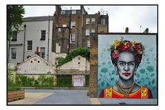 STREET ART by ZABOU (StockCarPete) Tags: zabou moysesstevens streetart londonstreetart london uk fridakahlo