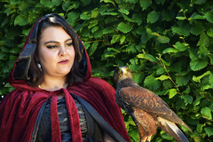 The Goth and Hawk (Travis Pictures) Tags: lady ladies woman girl model models art sunny peterborough thorpehall nikon d7200 photoshop modelling faces face summer outdoors photoshoot