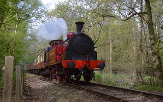Visiting loco Metropolitan No.1 heading up the gradient through Epping Forest to North Weald. Epping Ongar Railway Steam Gala. 08 06 2018