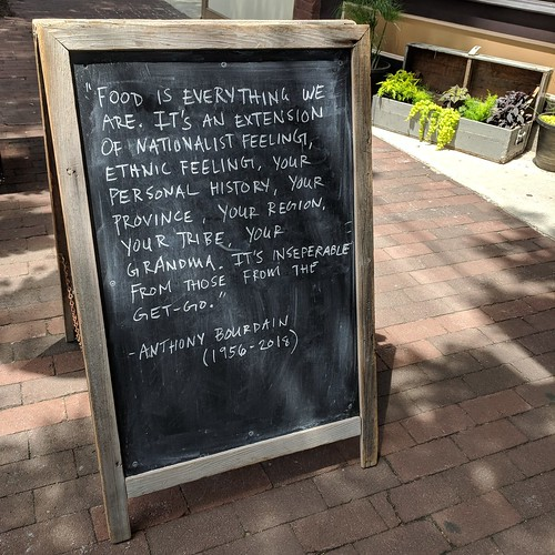Chalkboard w/ Anthony Bourdain Quote