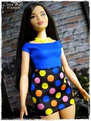 Girl in mini dress (Brani's fashion dolls) Tags: fashiondolls fashionistas barbie asiandolls curvy dollcollection