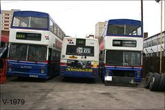 Miller Street 08 ((Stop) The Clocks) Tags: 1195 2679 wmpte wmt twm leyland leylandlynx mcwmetrobus a679uoe g195eog withdrawnbuses millerstreet mcw