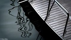 Black reflection (patrick_milan) Tags: reflection reflet deck pont wood teck metal abstait abstract water eau mer ship boat bateau ocean