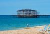 West Pier Brighton-E6130055 (tony.rummery) Tags: angler beach brighton deckchairs em10 fisherman historic mft microfourthirds omd olympus ruins seaviews seascape seaside southcoast westpier england unitedkingdom gb