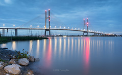 Cầu Cao Lãnh (@CuongDo) Tags: cầu caolanh caolãnh blue bridge longexposure clouds cloud light sony sonya7mark2 ilcea7m2 vietnam dongthap reflect reflections river httpswwwfacebookcomdochicuong76 night kit lenskit