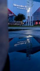 ReflectBenz (KompactKris) Tags: atl atlanta ga georgia mercedes benz stadium dome water reflect reflection night canon