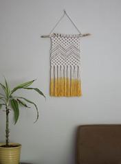 Macrame Wall Hanging (srivard72) Tags: macrame wallart wallhanging decor handmade forsale etsy etsyseller yellow dipdye chevron arrow mountain fiberart