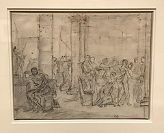 Jacques Louis David, French, 1748-1825_Study for the Lictors Bringing Brutus the Bodies of his Sons, ca. 1788 (Hiero_C) Tags: metropolitanmuseum drawing art europeanmasters newyork